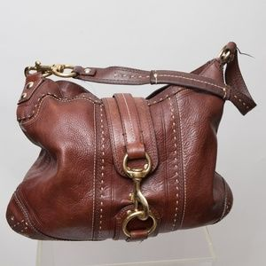 Coach Bag with Brass Hardware